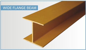 fiberglass structural shapes - wide-flange beam